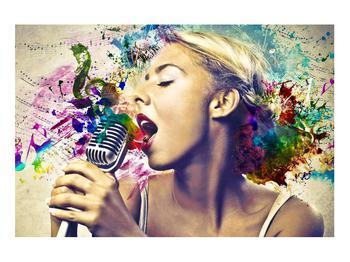 Énekesnő modern kép (K011273K9060)