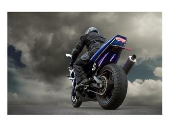 Tablou cu motociclist cu motocicletă (K011302K9060)