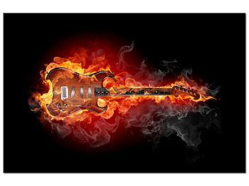 Tablou cu chitara  în foc (K011403K9060)