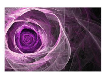 Moderný obraz fialovej ruže (K011482K9060)