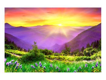 Obraz horské krajiny s východem slunce (K011873K9060)