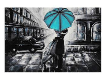 Obraz zamilovaného páru pod deštníkem (K012472K9060)