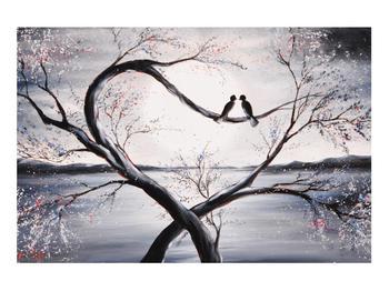 Tablou cu păsări îndrăgostite (K012516K9060)