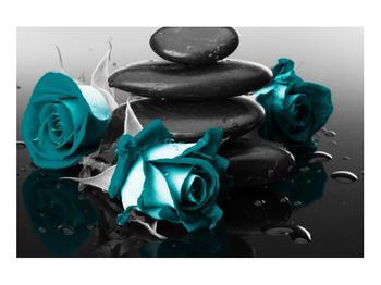 Tablou cu trandafiri albastre (K012553K9060)