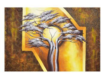 Orientální obraz stromu a slunce (K014067K9060)