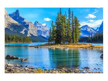 Obraz horské krajiny s řekou (K014679K9060)