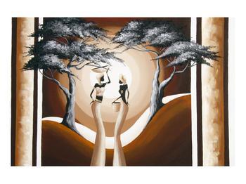 Orientální obraz dvou žen a stromu  (K014682K9060)