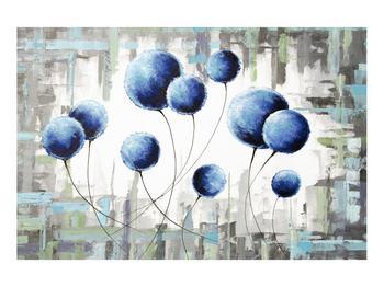 Abstraktní obraz - modré balónky (K014707K9060)