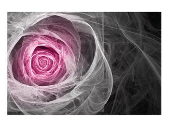 Abstraktní obraz růže (K014952K9060)