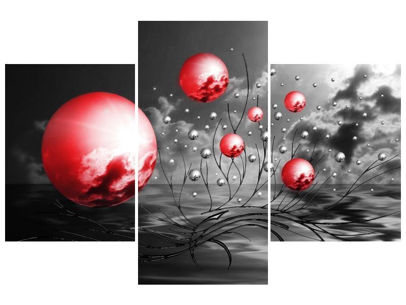 Moderní obraz - červené koule (F002086F90603PCS)