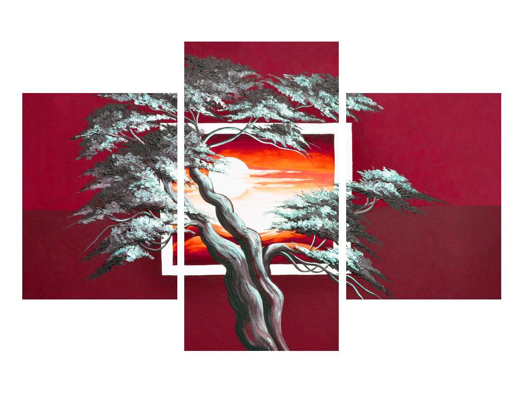 Moderní obraz stromu a východu slunce (K014022K90603PCS)
