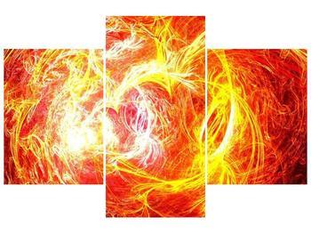 Abstraktní oranžový obraz (F000152F90603PCS)