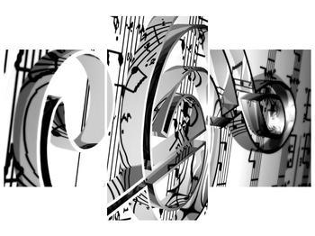 Moderní obraz houslového klíče (F000206F90603PCS)