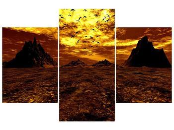Obraz vyprahlého údolí (F000287F90603PCS)