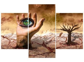 Obraz oka na dlaňi (F001485F90603PCS)