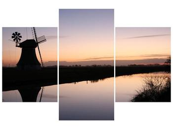 Obraz rybníku u mlýna (F001556F90603PCS)