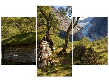 Obraz horské chatrče (F001636F90603PCS)
