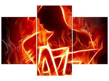 Obraz ohnivé postavy (F001691F90603PCS)