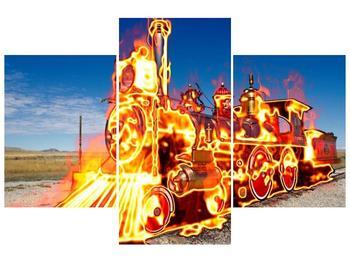 Obraz ohnivé lokomotivy (F001696F90603PCS)