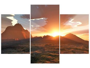 Obraz západu slunce nad horama (F001700F90603PCS)