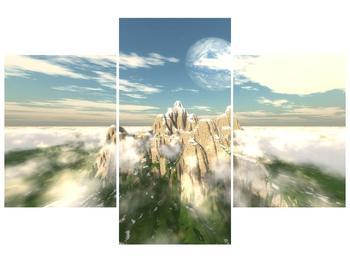 Obraz zasněžených vrcholů skal (F001715F90603PCS)