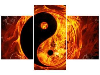 Obraz hořícího jin jang (F002309F90603PCS)