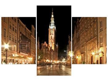 Obraz noční ulice s věží (F002338F90603PCS)
