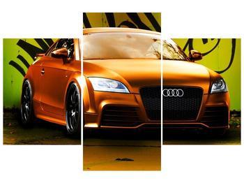 Obraz oranžové Audi (F002351F90603PCS)