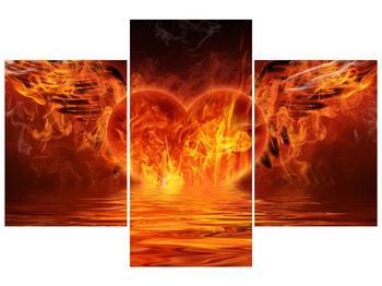 Obraz hořícího srdce s křídly  (F002884F90603PCS)