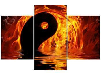 Obraz hořícího Jin Jangu  (F002885F90603PCS)