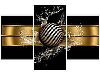 Obraz pruhované koule a vody (F004116F90603PCS)