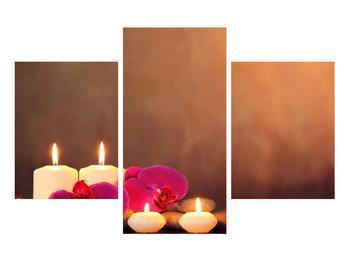 Tablou relaxant cu lumănâri și orhidee (K011120K90603PCS)