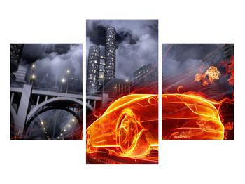 Tablou cu mașina arzând (K011167K90603PCS)