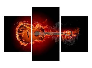 Lángoló gitár képe (K011168K90603PCS)