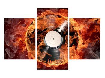 Tablou cu placă de gramofon în foc (K011171K90603PCS)