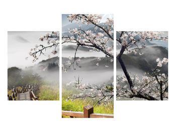Obraz rozkvetlé jarní krajiny (K011207K90603PCS)