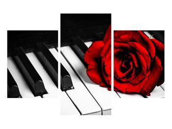 Zongora és egy rózsa képe (K011229K90603PCS)