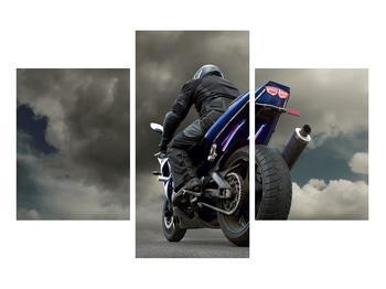 Tablou cu motociclist cu motocicletă (K011302K90603PCS)