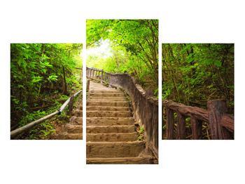 Tablou cu trepte ducând prin peisaj (K011329K90603PCS)