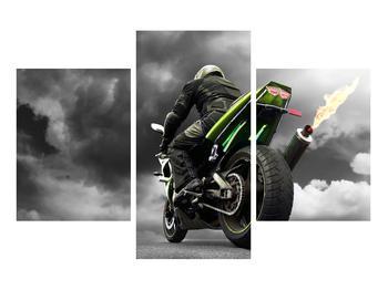 Tablou cu motociclist pe motocicletă (K011383K90603PCS)