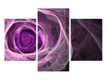 Moderný obraz fialovej ruže (K011482K90603PCS)