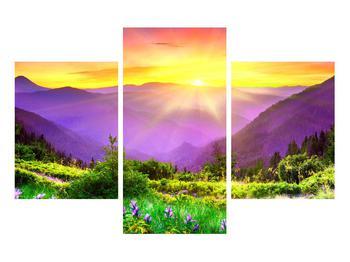 Obraz horské krajiny s východem slunce (K011873K90603PCS)