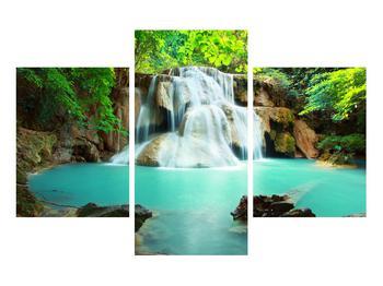 Obraz řeky s vodopády (K011969K90603PCS)