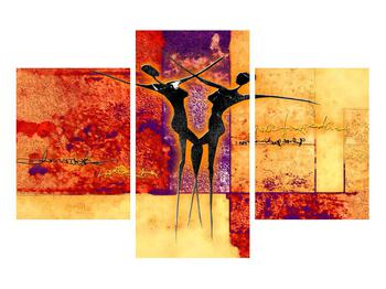 Tablou abstract cu doi dansatori (K011975K90603PCS)