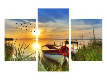 Obraz loďky na jezeře (K012049K90603PCS)