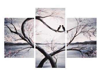 Tablou cu păsări îndrăgostite (K012516K90603PCS)