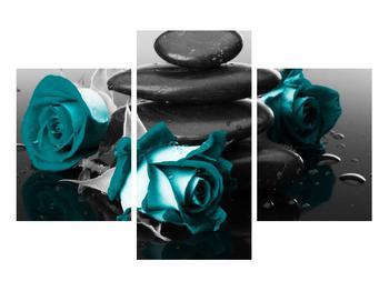 Tablou cu trandafiri albastre (K012553K90603PCS)