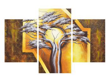 Orientální obraz stromu a slunce (K014067K90603PCS)