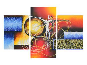 Abstraktní obraz tanečníků (K014151K90603PCS)