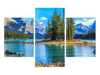 Obraz horské krajiny s řekou (K014679K90603PCS)